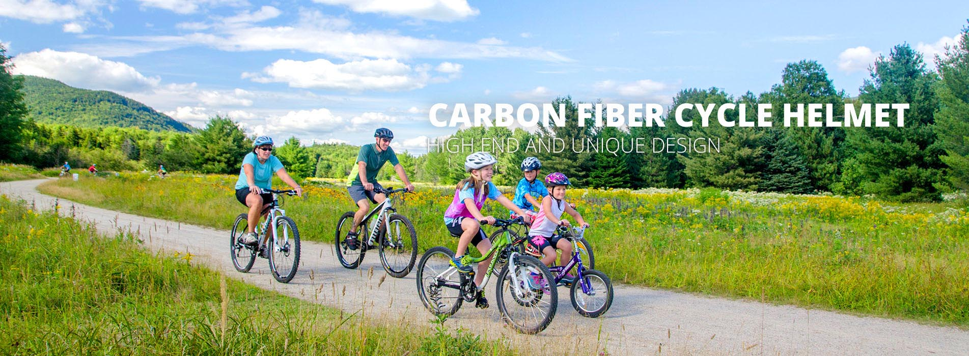 carbon fiber cycle helmet banner