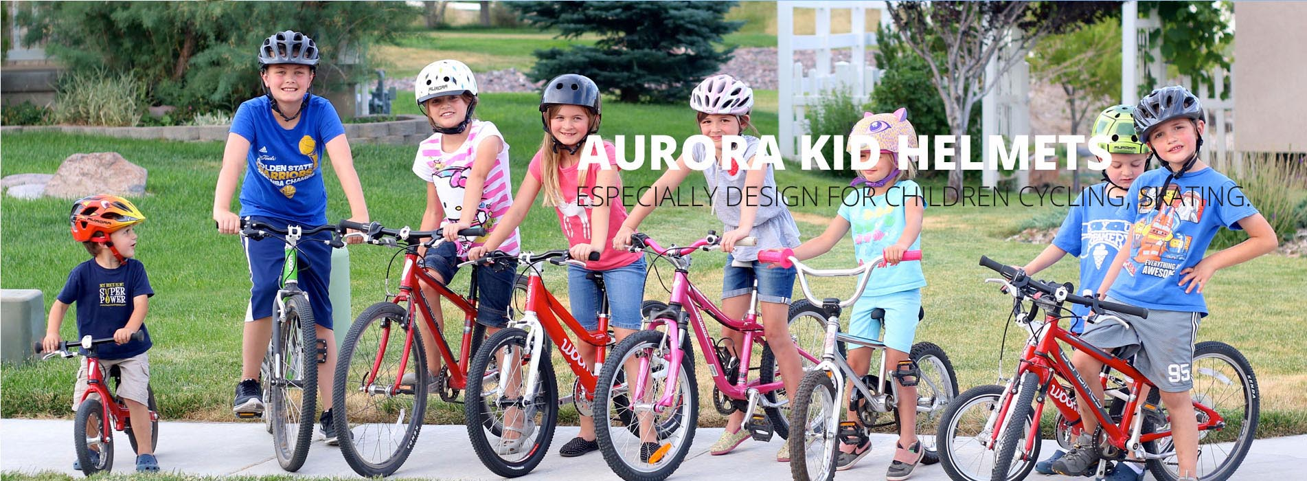 kids bicycle helmet banner