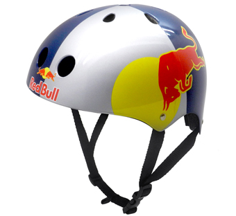 red bull skateboard helmet