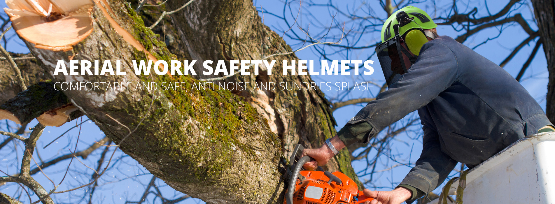 industrial safety helmet banner